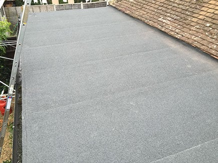 image of a flat roof once completed