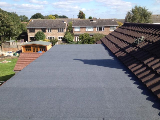 image of a new felt flat roof